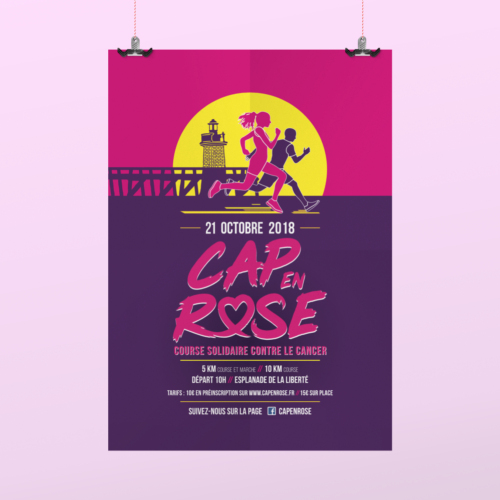 Cap en rose 2019 affiche course solidaire contre le cancer