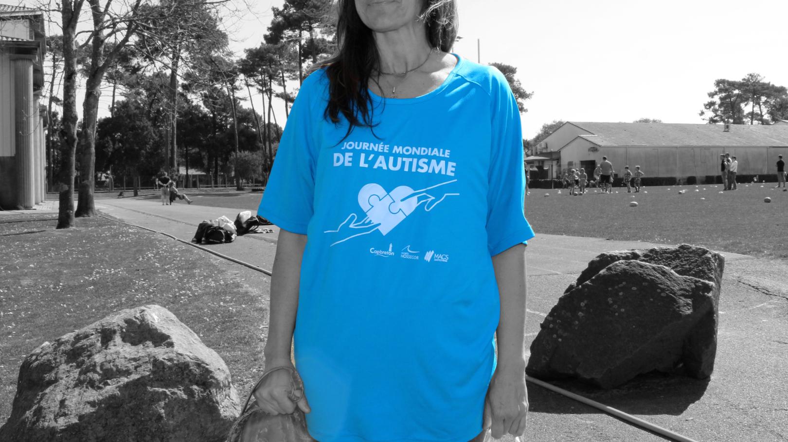 t shirt journée de l'autisme capbreton Joachim Fablet design graphique & illustration