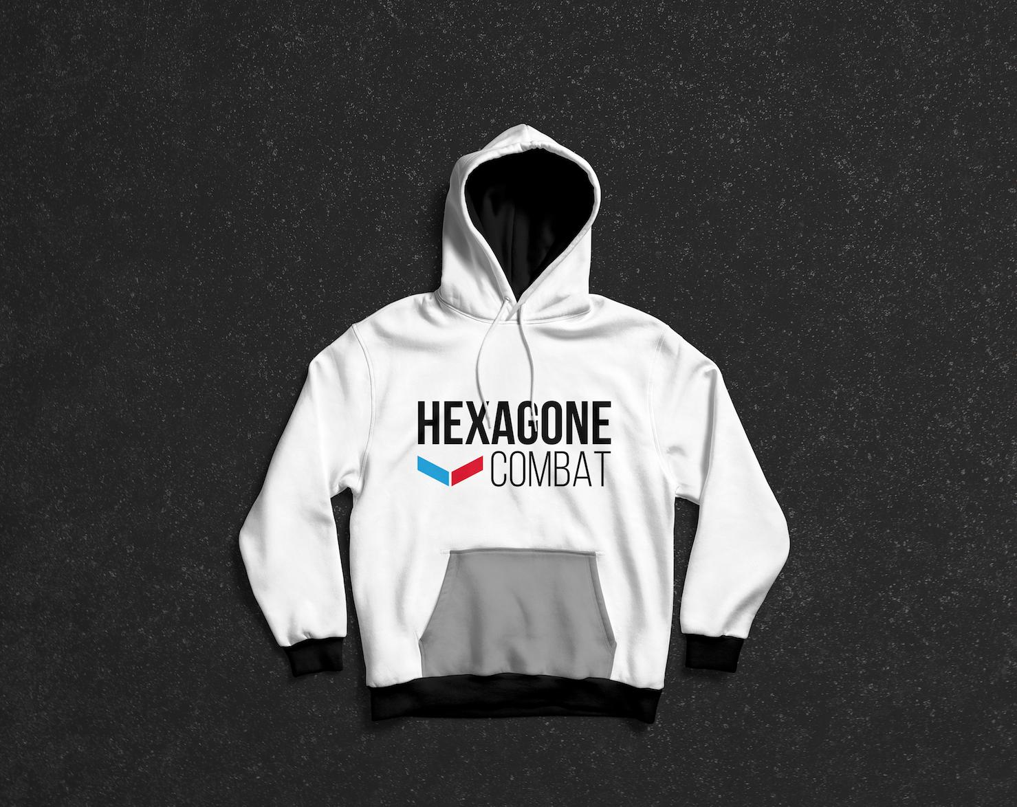 Hoodie Hexagone combat 2019