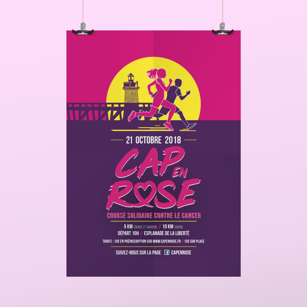 Cap en rose 2019 affiche course solidaire contre le cancer